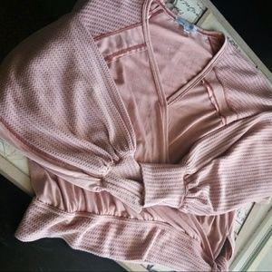 Beautiful She & Sky Boho tie Sweater Blouse